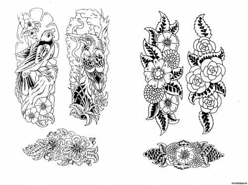 Эскизы татуировок тату цветов эскизы