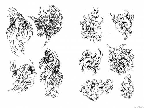 Тату цветов эскизы татуировок цветов