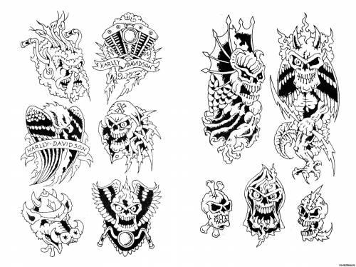 Эскизы татуировок эскизы тату черепов