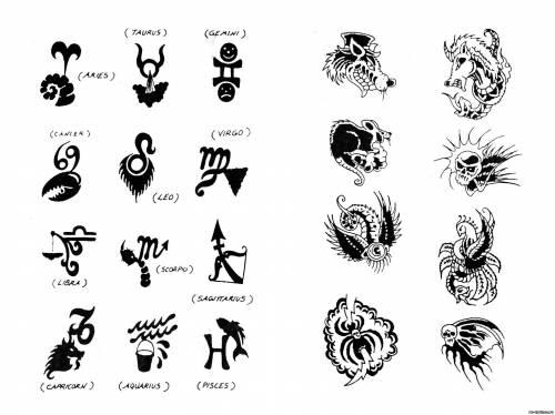 Эскизы эскизы тату знаков зодиака