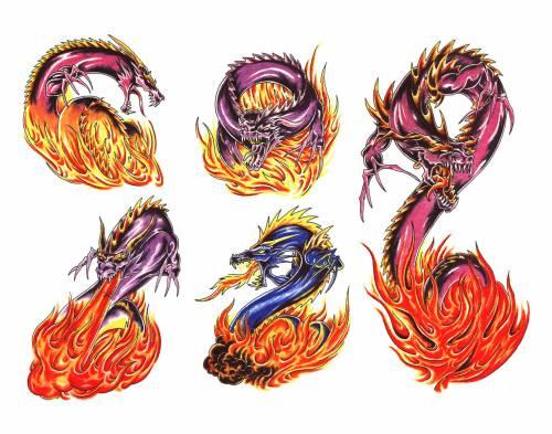 Найти татуировки драконов абстракции