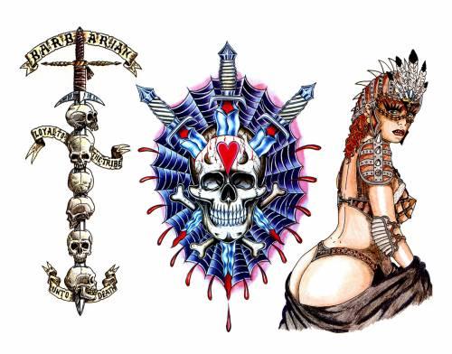 Женские татуировки на пояснице