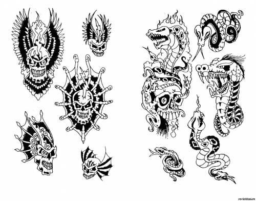 Эскизы татуировок разные эскизы