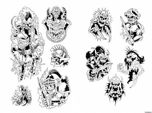 Татуировки воинов