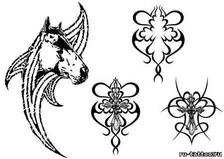 Эскизы женских тату с лошадьми