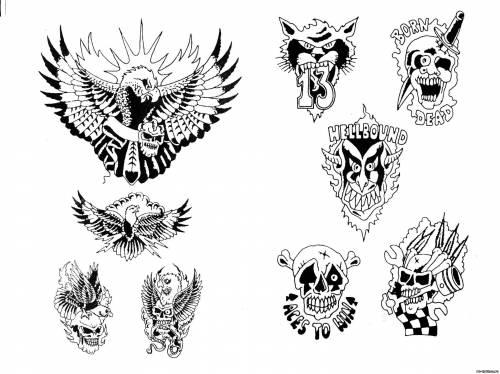 трафареты татуировок