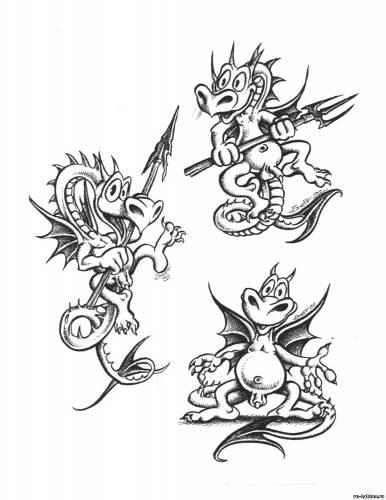Маленькие демонята эскизы тату тату