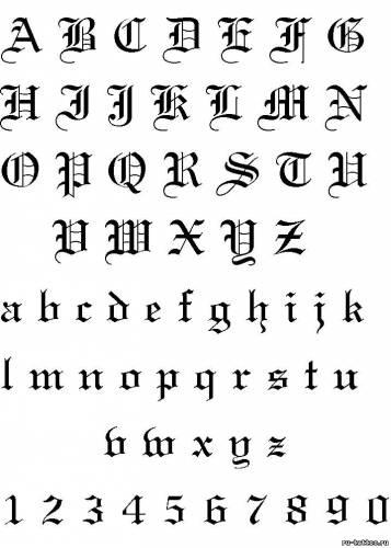 Шрифты для татуировок шрифты для