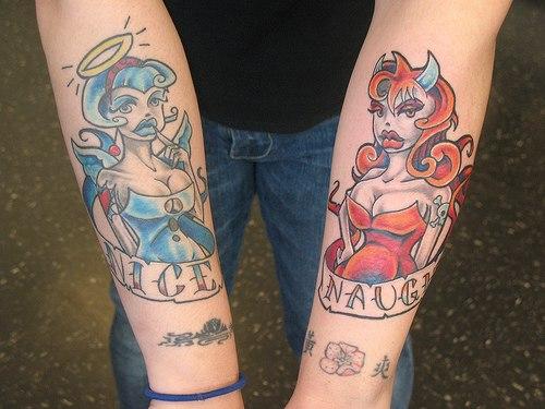 Татуировки ангелов татуировки