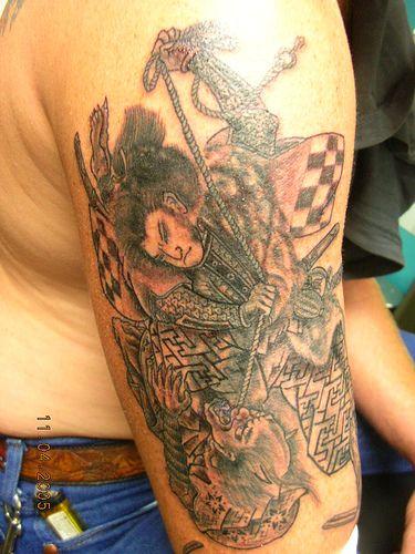 Фото татуировки с самураем
