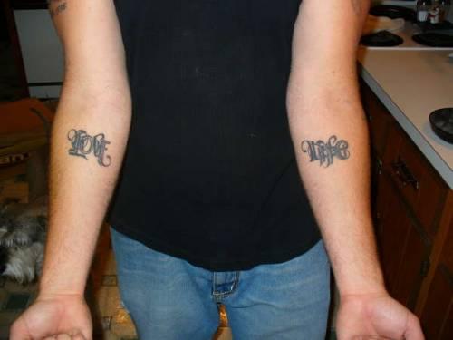 Татуировки надписи на руках